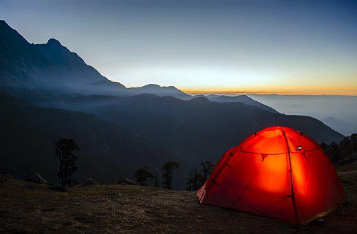 Camping, Travel, Sunrise, Adventure