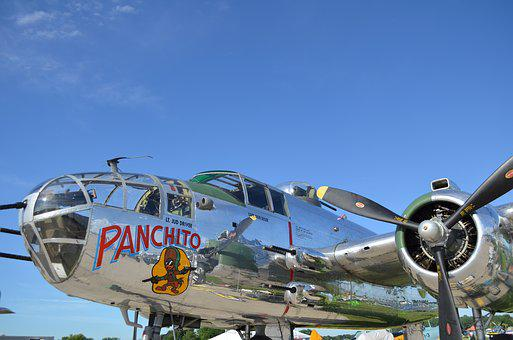 Aircraft, B25, Vintage, War, Aviation