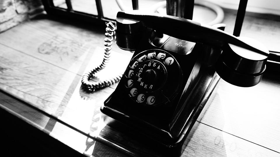 Телефон, Чб, Ретро