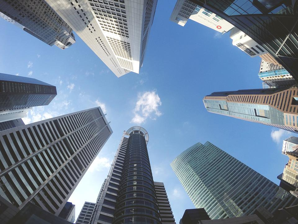 Buildings, Skyscraper, Sky, Clouds, Modern, City