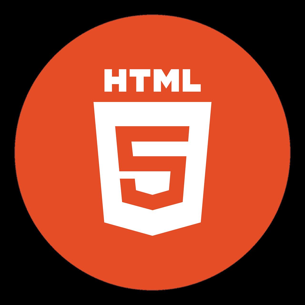 HTML 5 Logo. Source: Pixabay