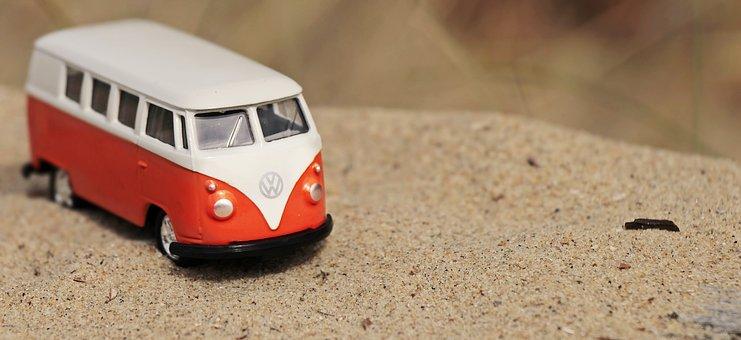 自動, おもちゃの車, バス, フォルクスワーゲン, 車両, 車, 交通機関