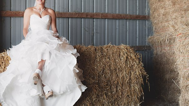 White, Dress, Wedding, Gown, Bride