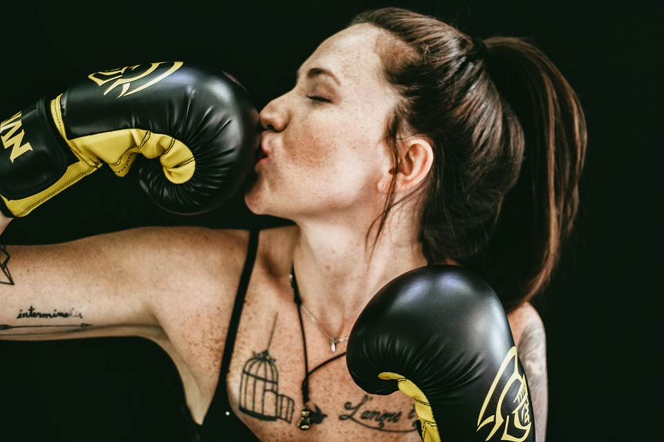 People, Girl, Boxing, Gloves, Fitness, Exercise