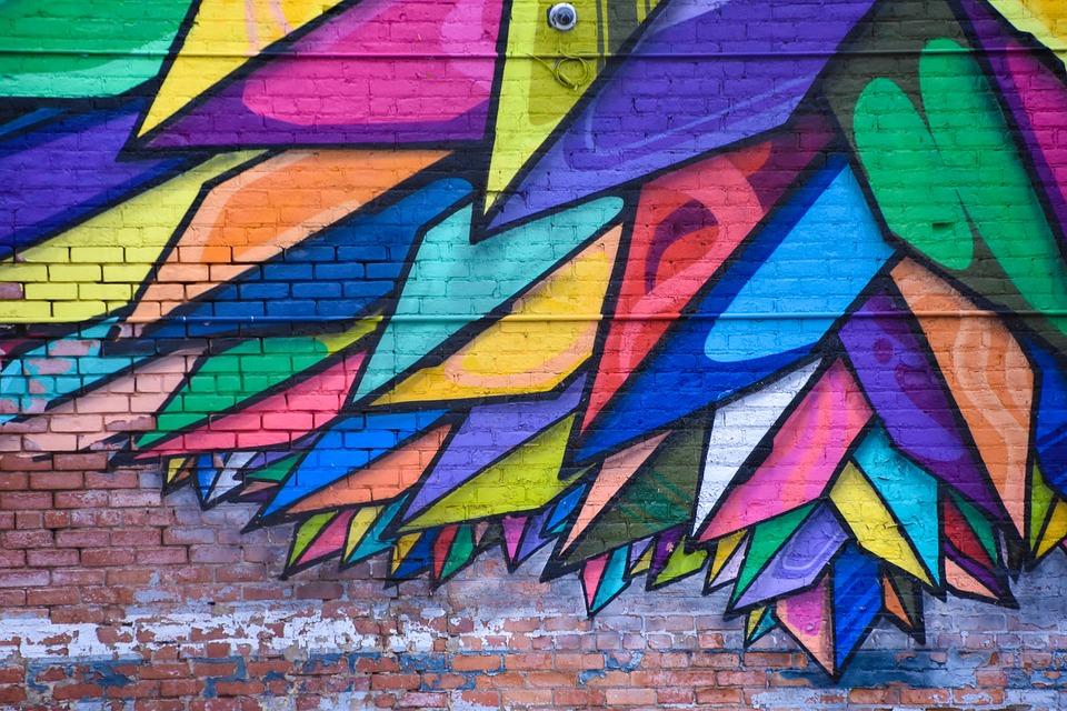 Wall Art Mural Colorful Painting Graffiti