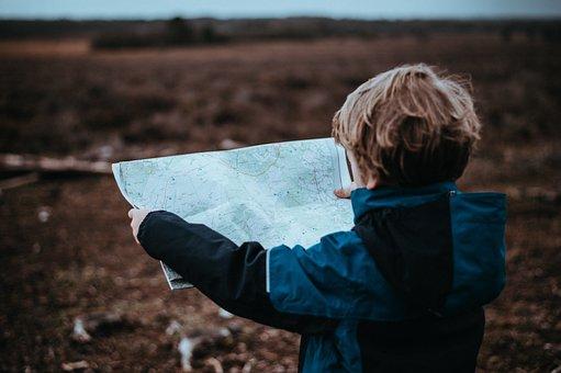 คน, เด็ก, การเดินทาง, การผจญภัย, แผนที่