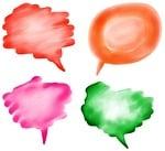 speech, bubbles, blank