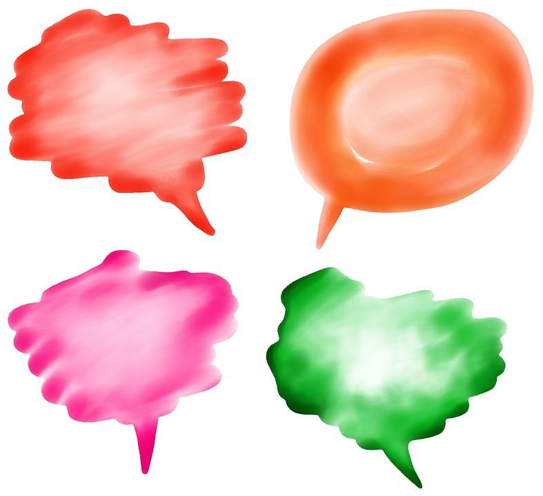 Speech, Bubbles, Blank, Empty, Borders, Copyspace