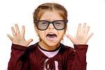 girl, glasses, see