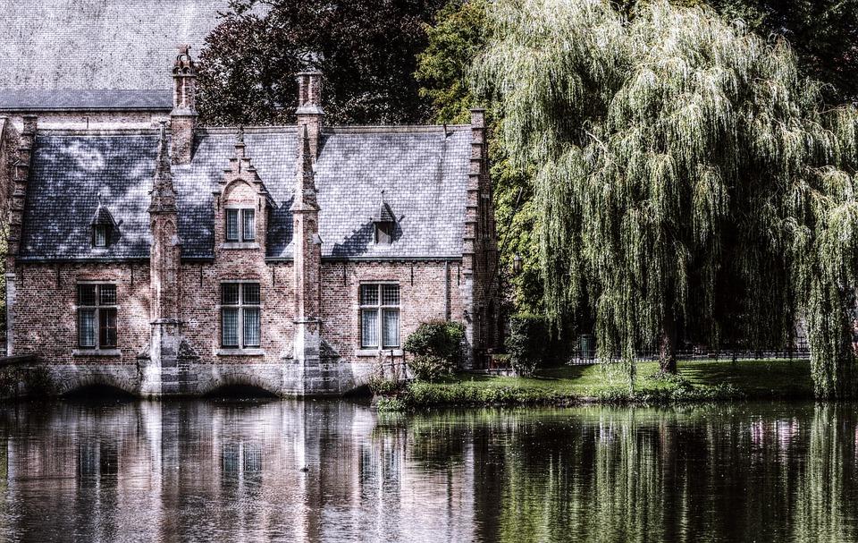 Brugge, België, Historisch, Romantische, Kanaal