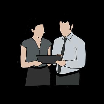 Office, Digital Tablet, People