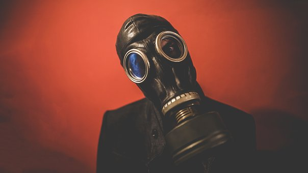 People, Man, Guy, Mask, Gas Mask, Black