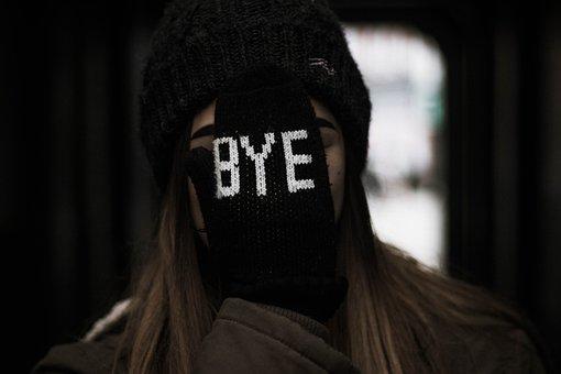 Personas, Mujer, Adiós, Guantes, Frío