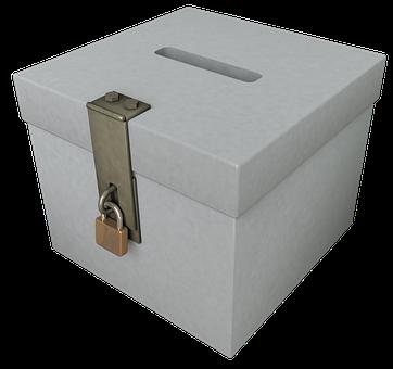 投票箱, 選択, 連邦議会選挙, 民主主義, 城, 南京錠, U-ロック, 投票