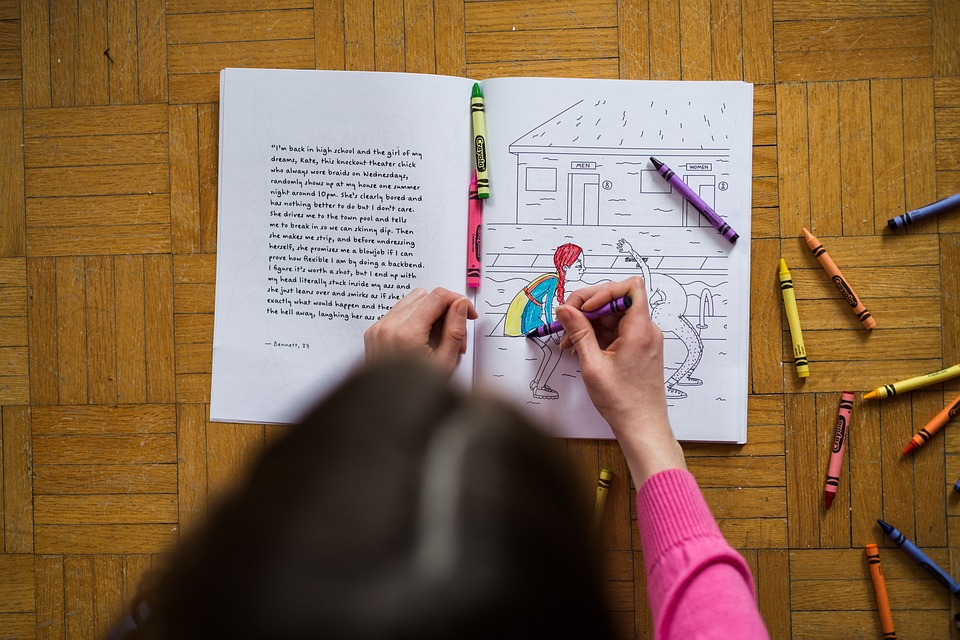 Girl Kid Coloring · Free photo on Pixabay