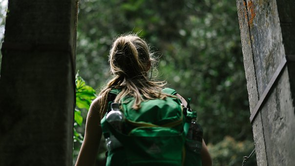People, Woman, Back Pack, Travel