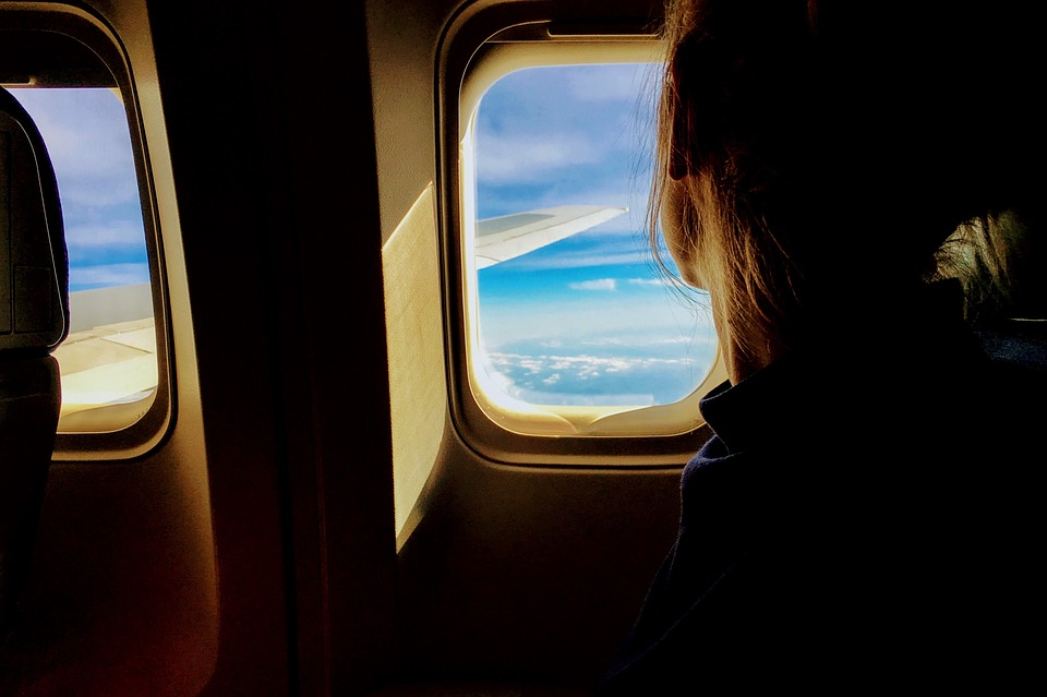 People, Woman, Airplane, Travel, Adventure, Vacation