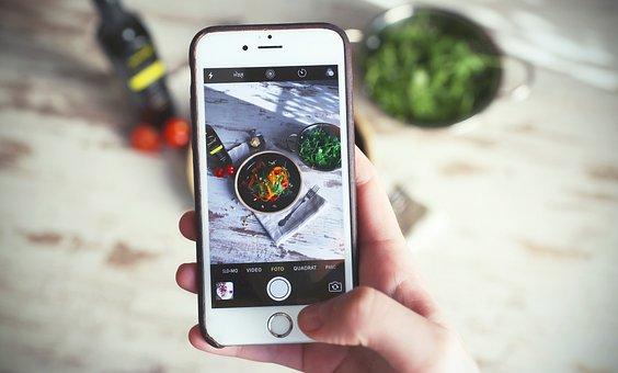 電話, 携帯電話, 人, 写真, Iphone, アップル, フォト, 画像