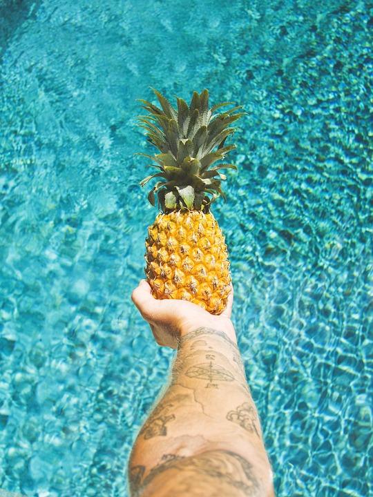 Pinapple tattoo