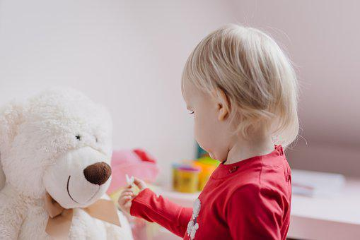 People, Child, Kid, Bear, Toy, Blonde