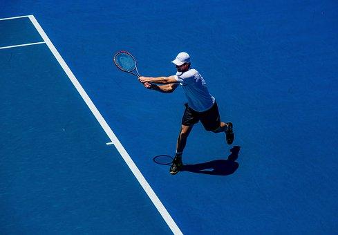 人, 男, スポーツ, テニス, 趣味, ゲーム, シャドウ, 日当たりの良い