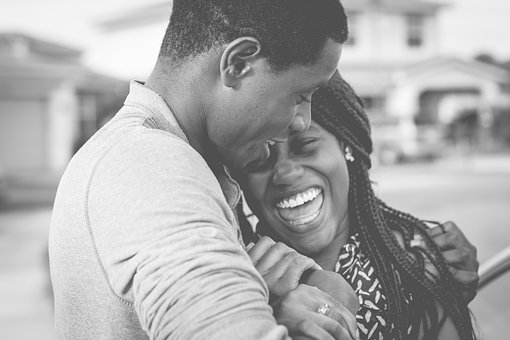 Black And White, People, Couple, Happy