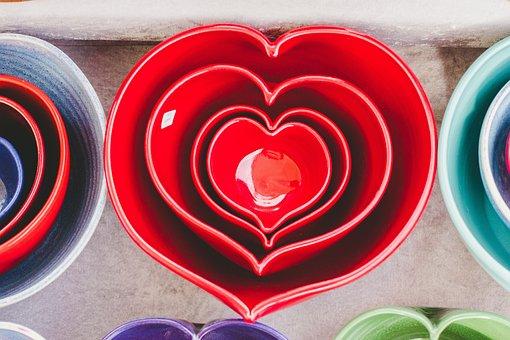 Heart, Art, Shiny, Red, Mold, Shapes