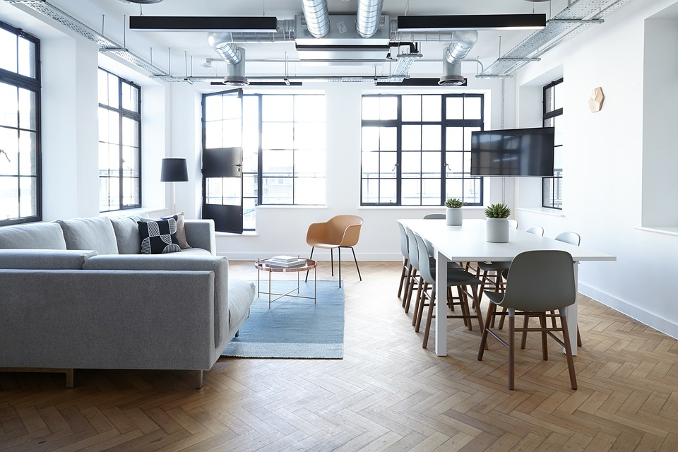 Interior Design Tables Chairs White Wall Window