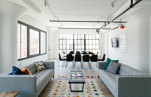 Interior, Design, Tables, Chairs, White