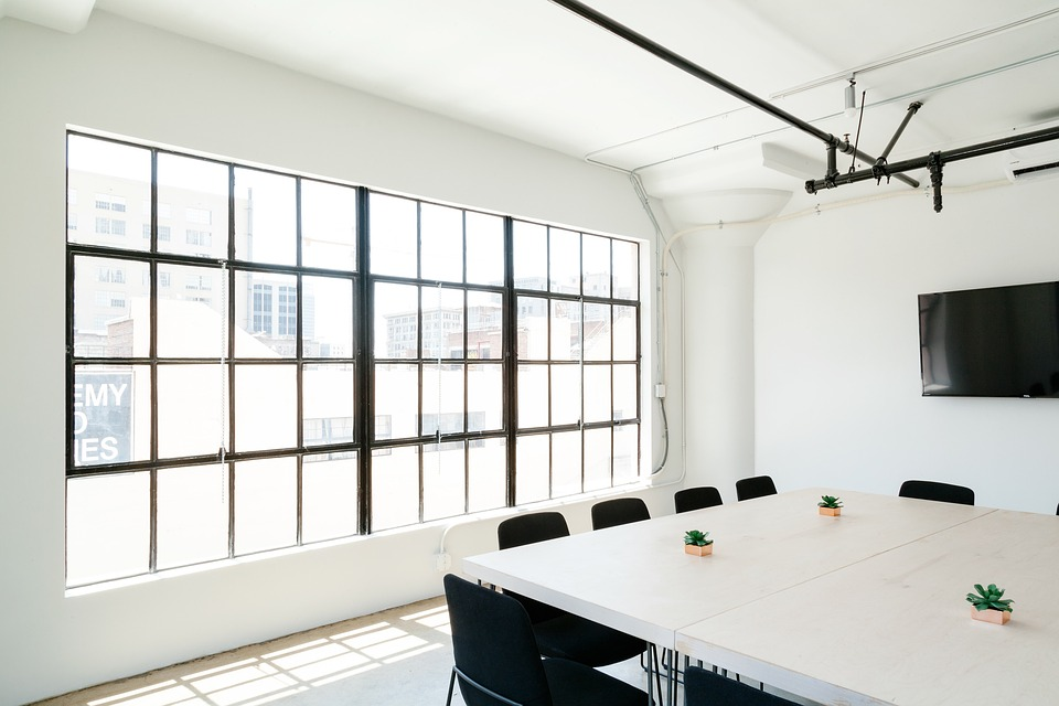 Interior Design Tables Chairs White Wall Ceiling