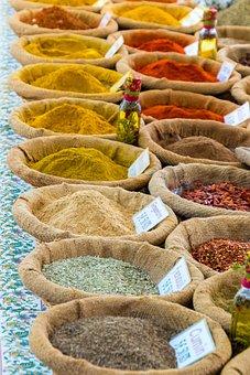 Épices, Curry, Décrochage Du Marché