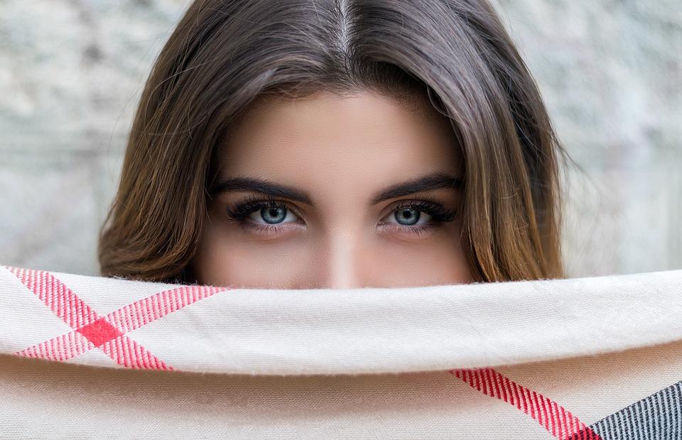 Personas, Mujer, Ojos, Azul, Las Cejas, Belleza