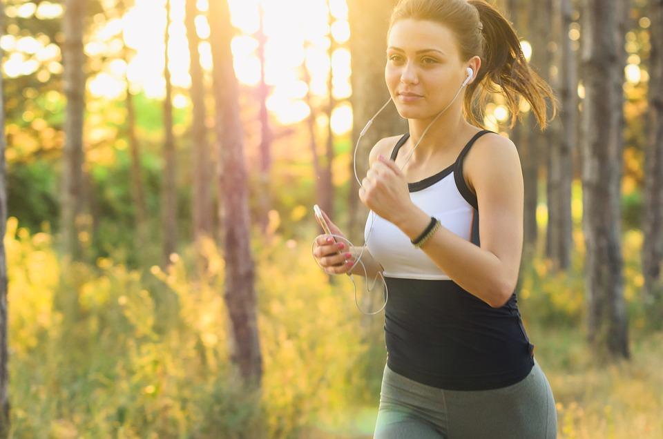 Woman, Jogging, Running, Exercise, Fitness, Earphones