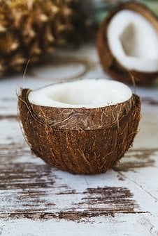 Coconut, Shell, Coconut Oil, Fruit, Wood