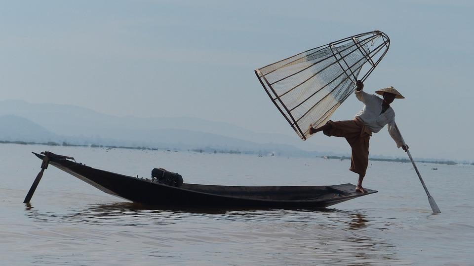 Burma, Lake Inle, Fisherman, Myanmar, Lake, Boat