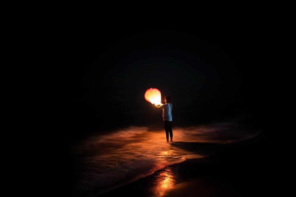 Ballonnen Met Licht : Dunkel nacht licht · kostenloses foto auf pixabay