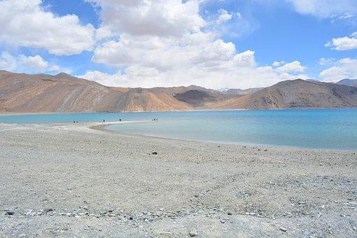 Lake, Mountain, Ladakh, India, Landscape