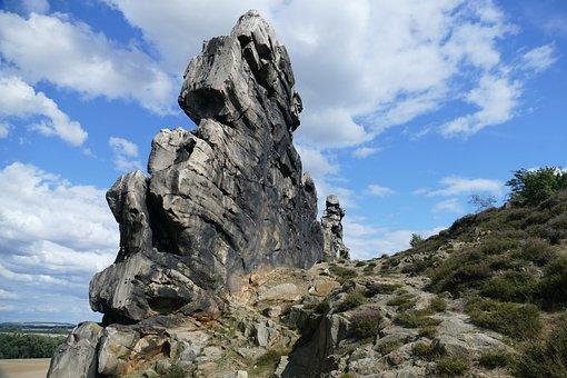 Rock, Cliff, Devil'S Wall, Landscape