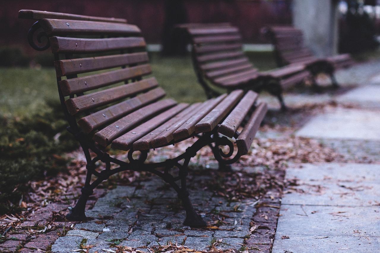 Поздравлением, открытка скамейка