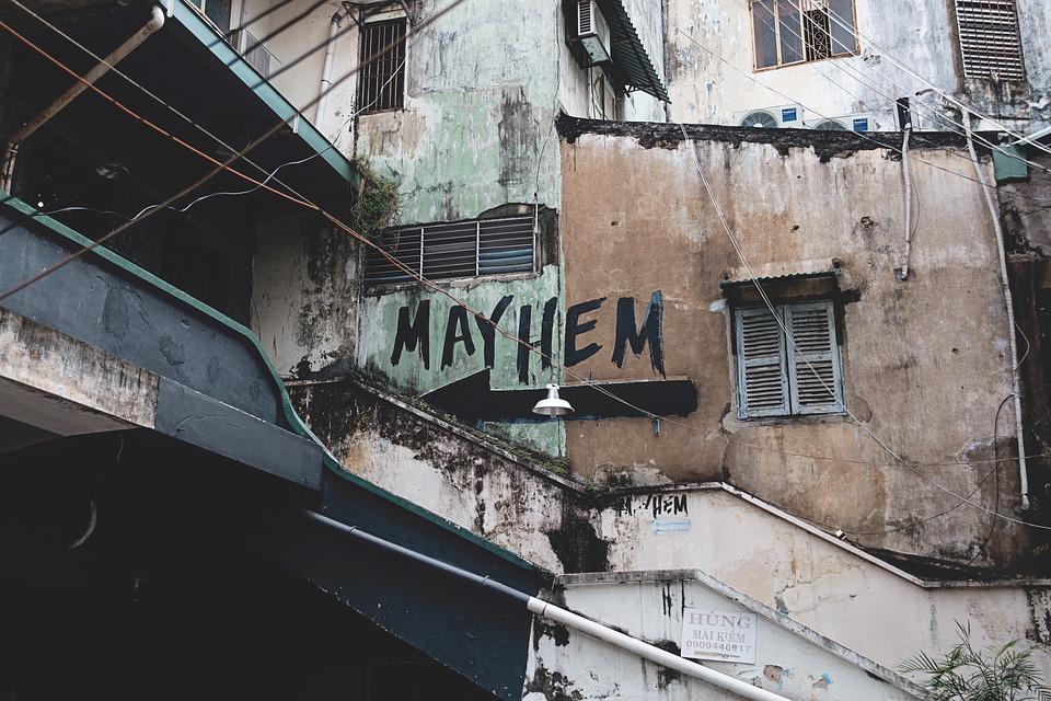 Mayhem, House, Lifestyle, Establishment, Neighborhood