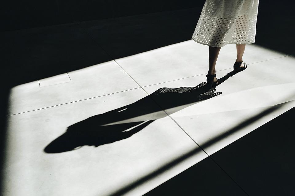 Personas, Mujer, Sombra, Piernas, Oscuro