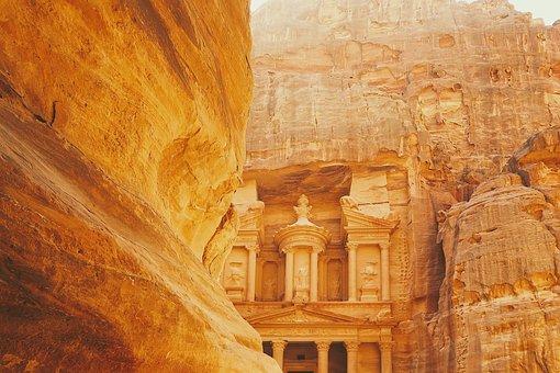 Arqueológico, Cidade, Petra, Jordânia