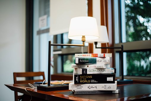 Superior Book, Table, Lights, Lamp, Room, Study