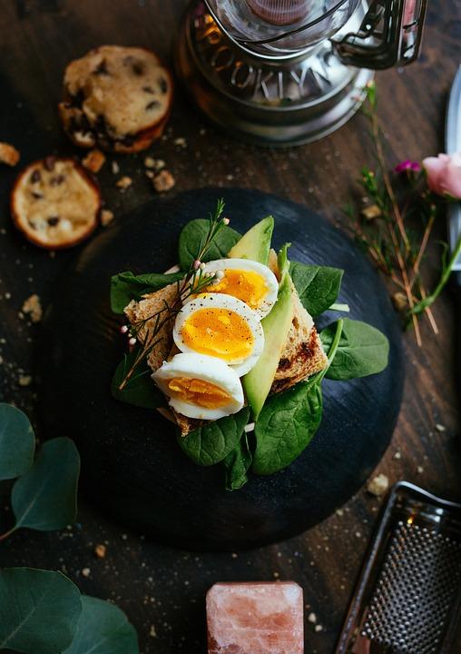 Vert, Feuilles, Légumes, Pain, Sandwich, Petit Déjeuner