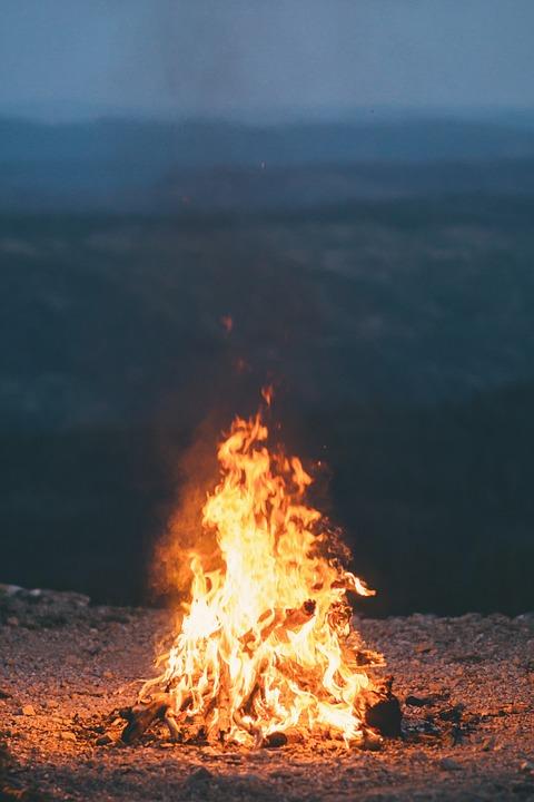 Fuego, Llama, Grabar, Hoguera, Fogata, Oscuro, Noche
