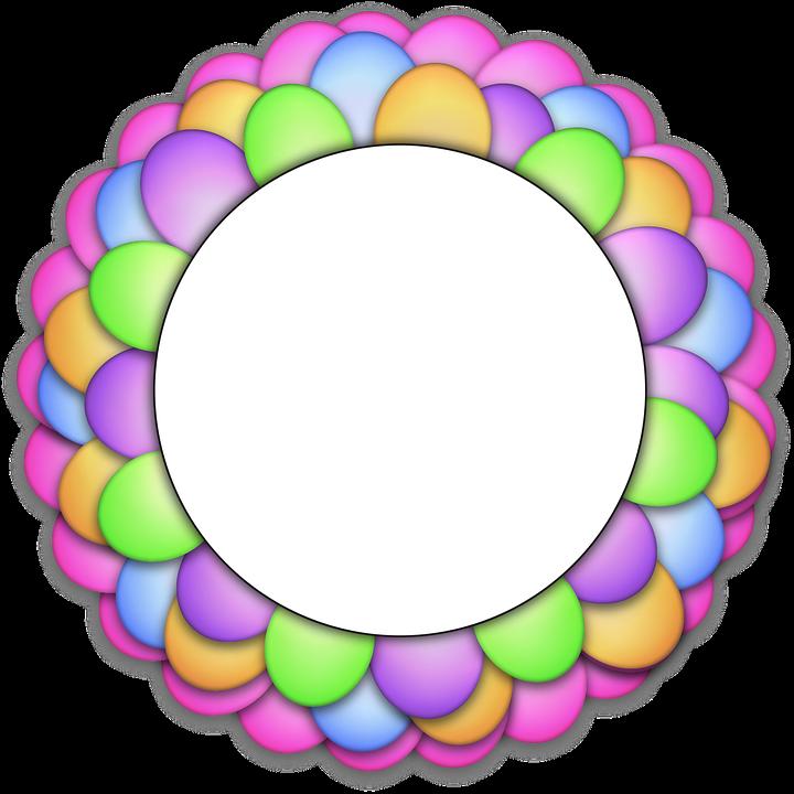 Luftballons Kreis Rahmen · Kostenloses Bild auf Pixabay
