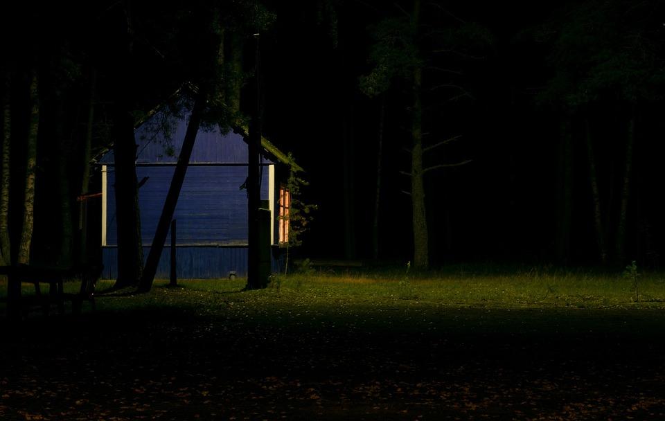 Image result for cottage in dark
