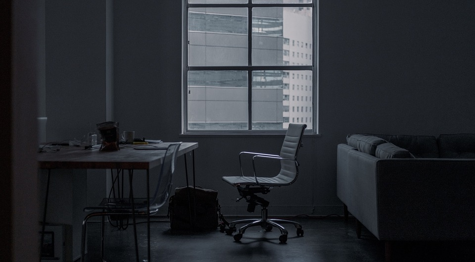 black and white office. h building black and white office room work desk