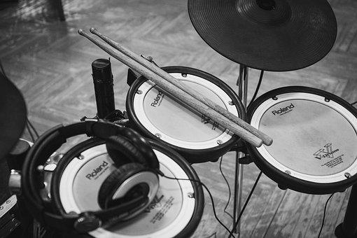 Electric, Drum, Set, Musical, Instrument