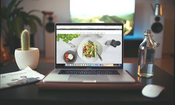 ラップトップ, アップル, Macbook, コンピュータ, マウス